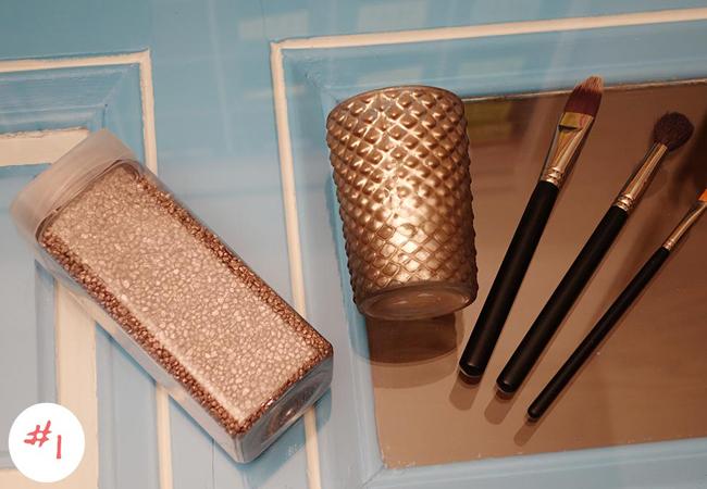 spiegelschrank make up aufbewahrung diy. Black Bedroom Furniture Sets. Home Design Ideas